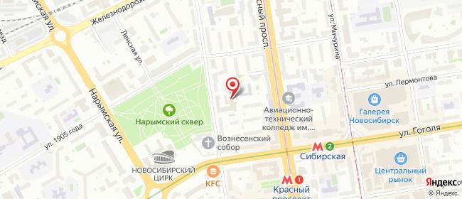 Карта расположения пункта доставки Новосибирск Советская в городе Новосибирск