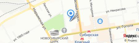 АККОРД-М на карте Новосибирска