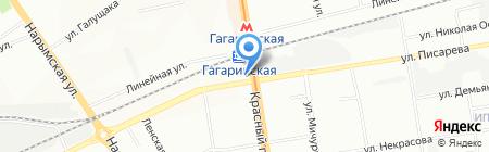 РИК на карте Новосибирска