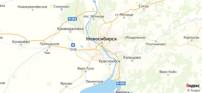 Новосибирск - объекты на карте