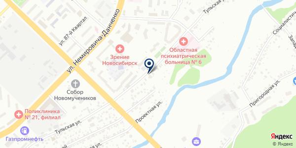 НАДЕЖДА на карте Новосибирске