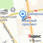 Сибирская Орхидея на карте Новосибирска