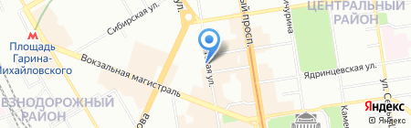 Басон на карте Новосибирска