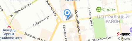 Шанталь на карте Новосибирска