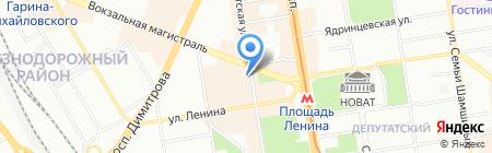 Петергоф на карте Новосибирска