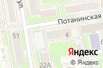 Схема проезда до компании Страд в Новосибирске