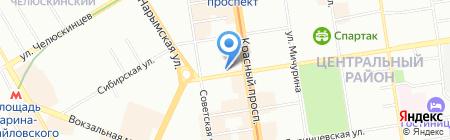 Правый берег на карте Новосибирска