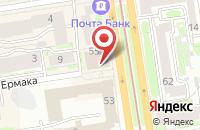 Схема проезда до компании Алфавит Плюс в Новосибирске