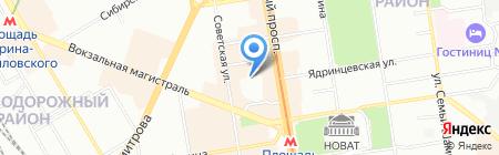 МРС на карте Новосибирска