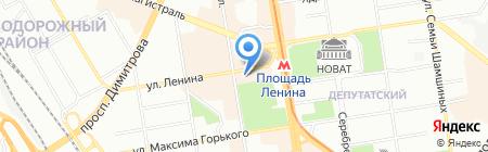 Банкомат АИКБ Татфондбанк на карте Новосибирска