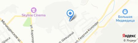 Лэнди клуб на карте Новосибирска
