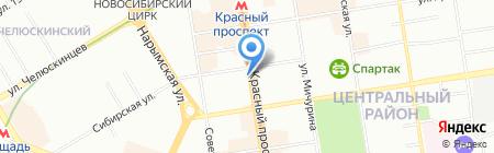 Кремона на карте Новосибирска