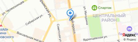 Элесар на карте Новосибирска
