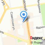Центр дополнительного образования на карте Новосибирска