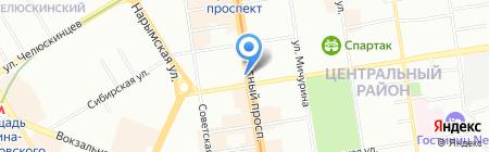 Аптека на Красном на карте Новосибирска