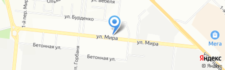 Калина на карте Новосибирска