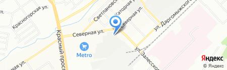 Мелькомбинат №3 на карте Новосибирска
