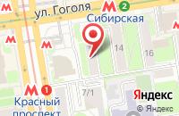 Схема проезда до компании Велес 2009 в Новосибирске