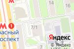 Схема проезда до компании КВАДРОТЕКА-Сибакадемстрой Недвижимость в Новосибирске