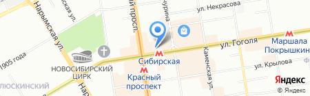 Синтетика на карте Новосибирска