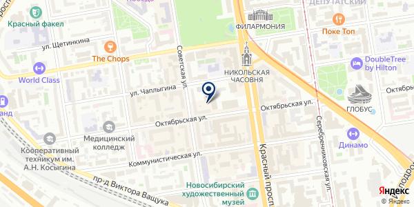 Ягуар на карте Новосибирске
