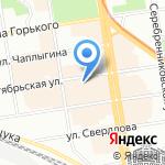 Школа дизайна на карте Новосибирска