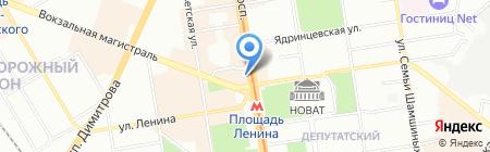 Банкомат Лето Банк на карте Новосибирска
