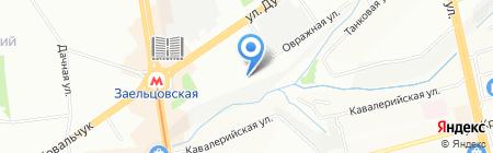 Средняя общеобразовательная школа №159 с углубленным изучением математики на карте Новосибирска