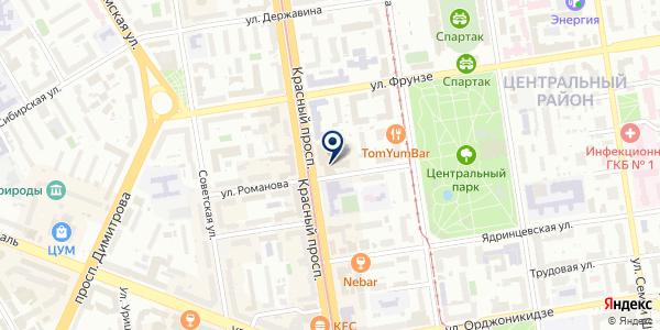 Фотокопицентр на карте Новосибирске