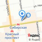 Книгозор на карте Новосибирска