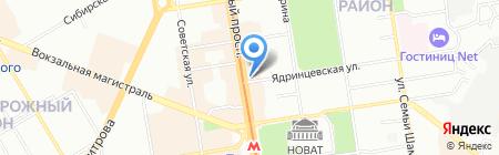 Стрижи на карте Новосибирска