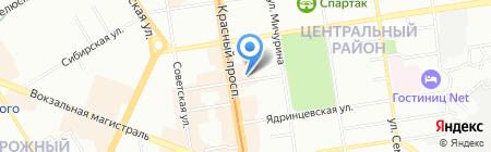 АС на карте Новосибирска