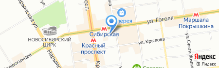 Дарья на карте Новосибирска