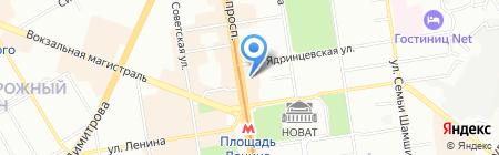 ЮЛА на карте Новосибирска