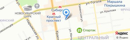 Средняя общеобразовательная школа №54 на карте Новосибирска