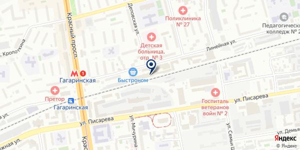 Солнечное на карте Новосибирске