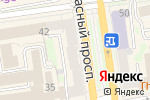 Схема проезда до компании Очкарик в Новосибирске