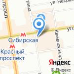 Скрепка на карте Новосибирска