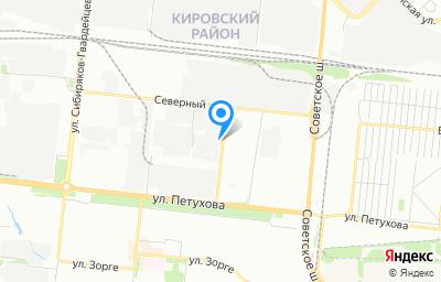 Местоположение на карте пункта техосмотра по адресу г Новосибирск, проезд Северный, д 33