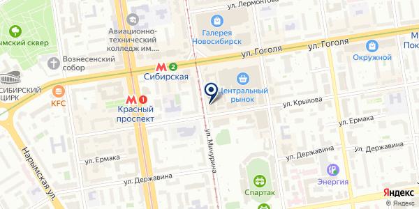 Авангард-принт на карте Новосибирске