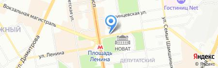 Нефертити на карте Новосибирска