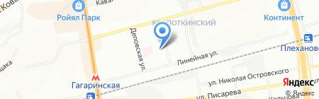 Алюмия на карте Новосибирска