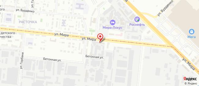 Карта расположения пункта доставки Новосибирск Мира в городе Новосибирск