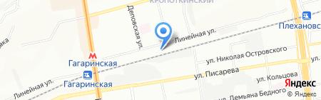 Абант на карте Новосибирска