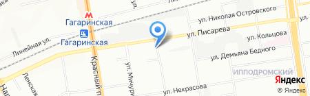 ДакомАВТ на карте Новосибирска