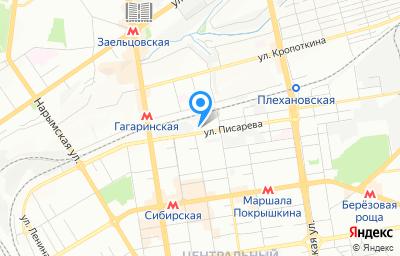 Местоположение на карте пункта техосмотра по адресу г Новосибирск, ул Писарева, д 73/3