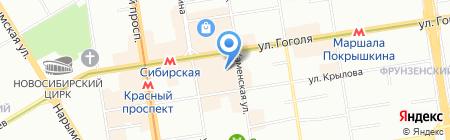 Фаворит на карте Новосибирска