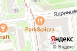 Схема проезда до компании Фабрика стилистов в Новосибирске