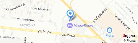Старт на карте Новосибирска