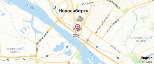 Место расположения автовокзала в г. Новосибирск на Яндекс.Картах